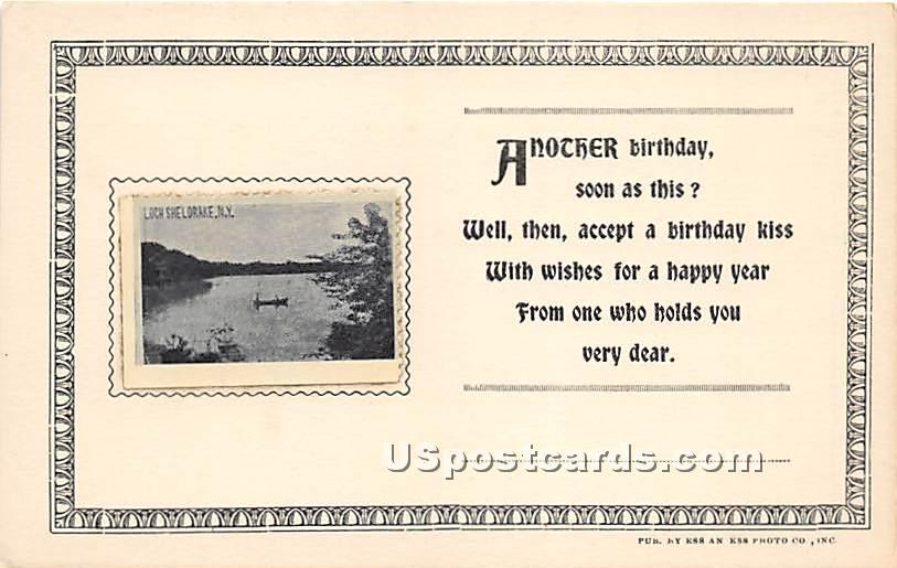 Lake View - Loch Sheldrake, New York NY Postcard