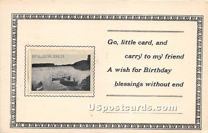 Boating - Loch Sheldrake, New York NY Postcard
