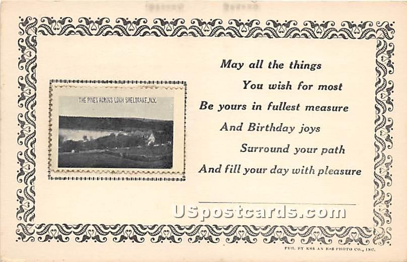 Pines Across Loch Sheldrake - New York NY Postcard