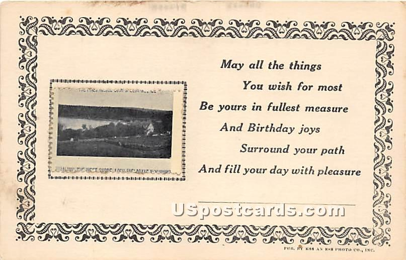 Along the West Shore - Loch Sheldrake, New York NY Postcard