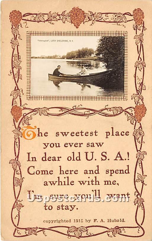 Interrupted - Loch Sheldrake, New York NY Postcard