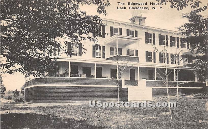 Edgewood House - Loch Sheldrake, New York NY Postcard