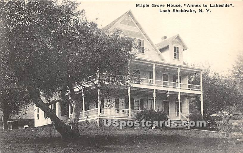 Maple Grove House - Loch Sheldrake, New York NY Postcard