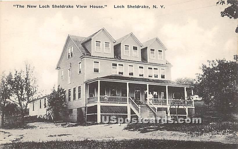 New Loch Sheldrake View House - New York NY Postcard