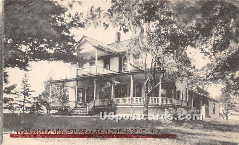 Wilkins Farm House - Loch Sheldrake, New York NY Postcard
