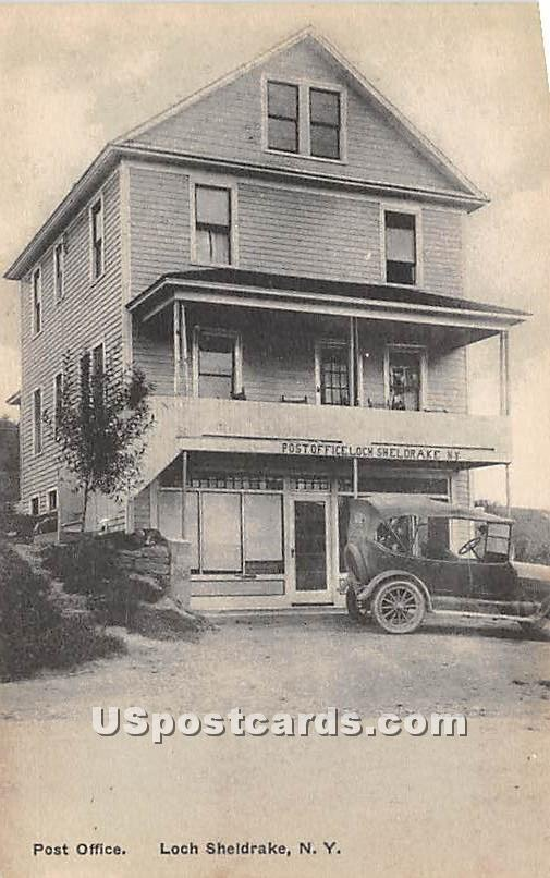 Post Office - Loch Sheldrake, New York NY Postcard