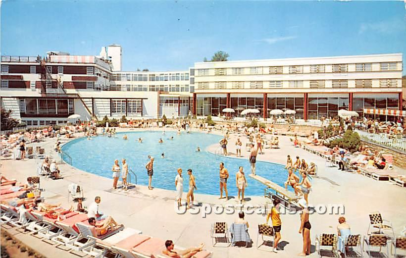 Charles & Lillian Brown's Hotel - Loch Sheldrake, New York NY Postcard