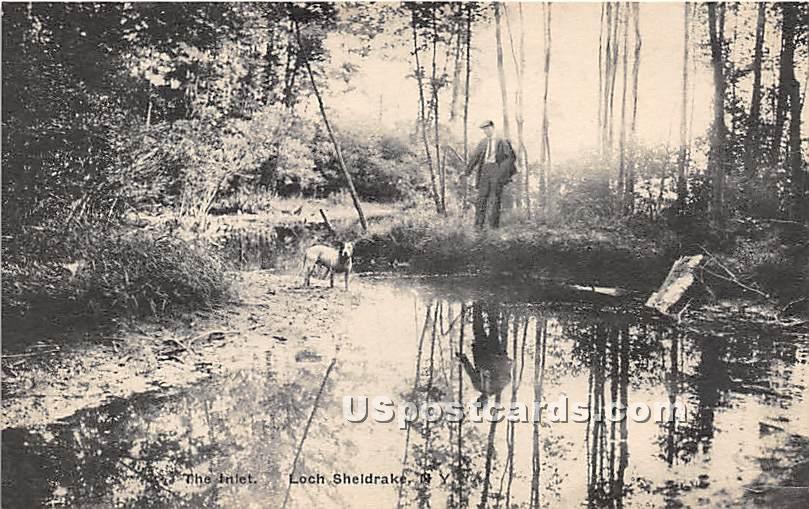 The Inlet - Loch Sheldrake, New York NY Postcard