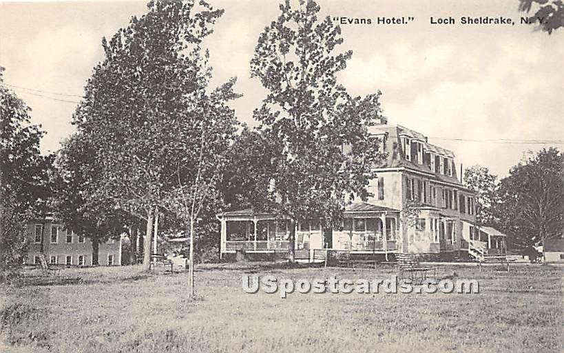 Evans Hotel - Loch Sheldrake, New York NY Postcard