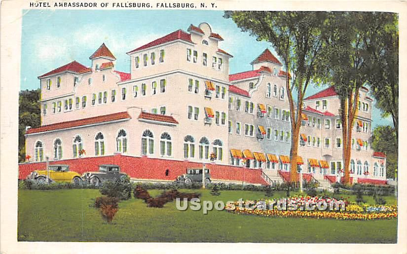 Hotel Ambassador - Loch Sheldrake, New York NY Postcard