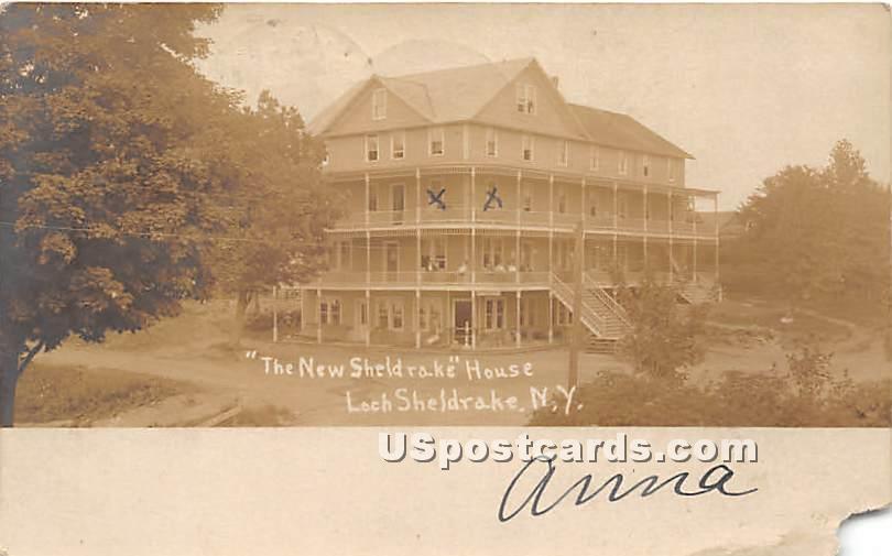 New Sheldrake House - Loch Sheldrake, New York NY Postcard