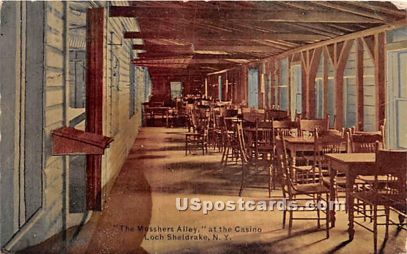 Musshers Alley at the Casino - Loch Sheldrake, New York NY Postcard