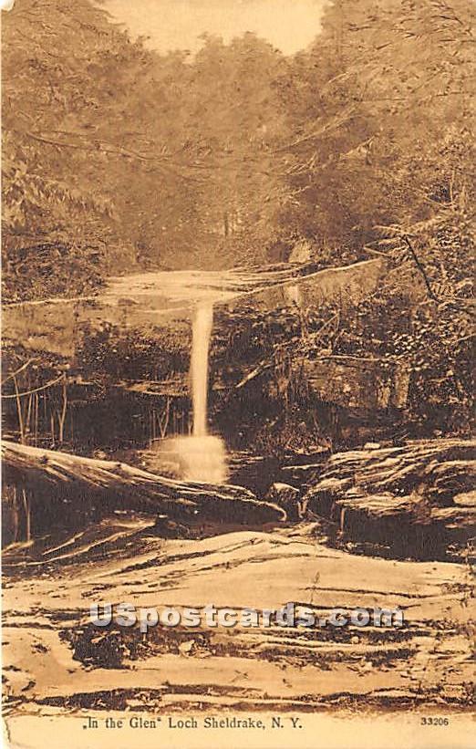 In the Glen - Loch Sheldrake, New York NY Postcard