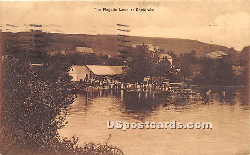The Regatta - Loch Sheldrake, New York NY Postcard