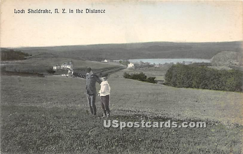 In the Distance - Loch Sheldrake, New York NY Postcard