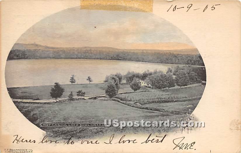 Casino - Loch Sheldrake, New York NY Postcard