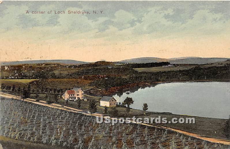 A Corner - Loch Sheldrake, New York NY Postcard