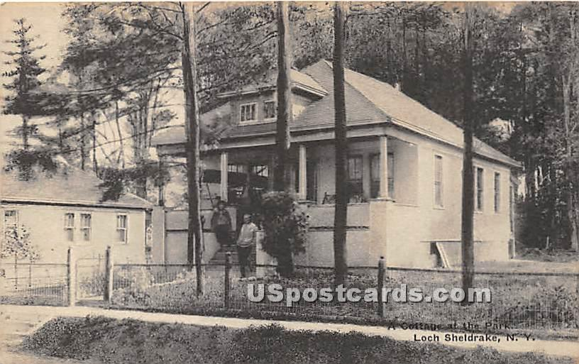 Cottages at the Park - Loch Sheldrake, New York NY Postcard