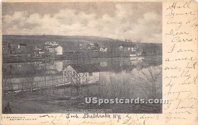 Birds Eye View - Loch Sheldrake, New York NY Postcard