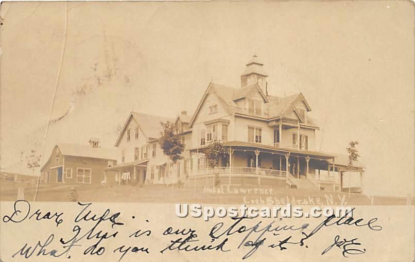 Hotel Lawrence - Loch Sheldrake, New York NY Postcard