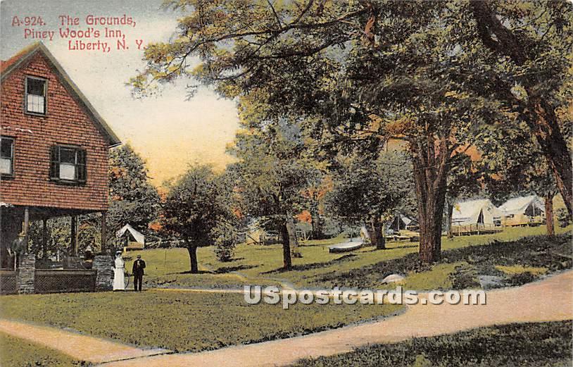 The Grounds - Liberty, New York NY Postcard