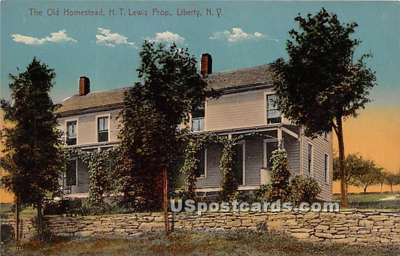 Old Homestead - Liberty, New York NY Postcard