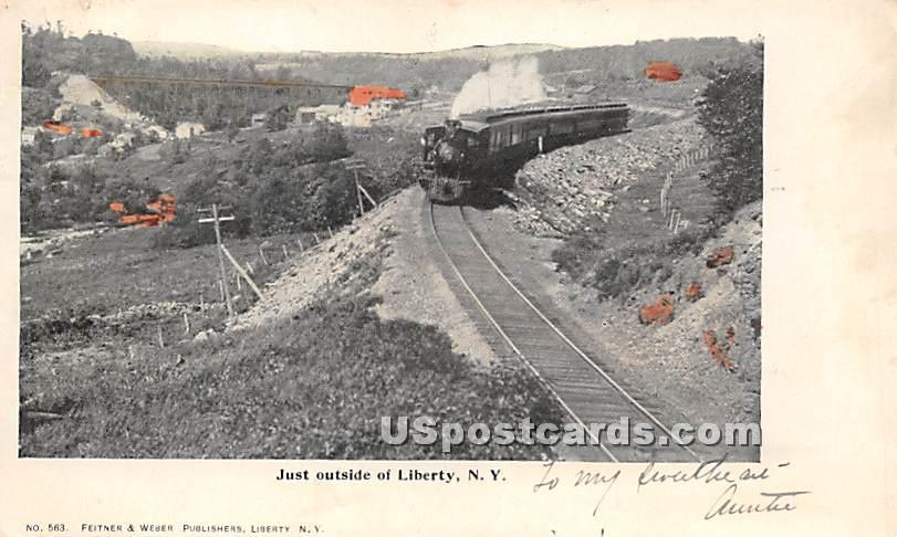 Just Outside Liberty - New York NY Postcard