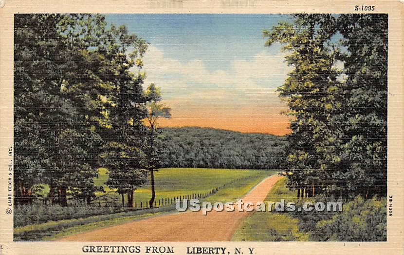 Greetings from - Liberty, New York NY Postcard