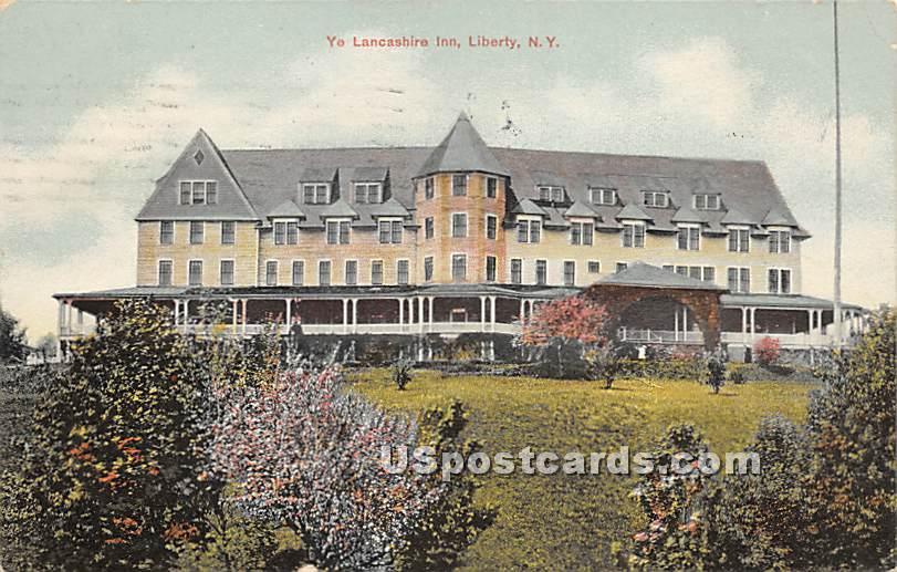Ye Lancashire Inn - Liberty, New York NY Postcard