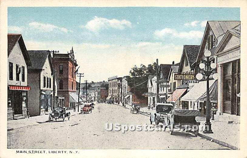 Main Street - Liberty, New York NY Postcard