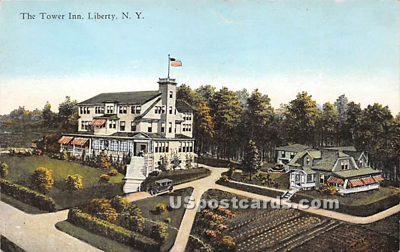 Tower Inn - Liberty, New York NY Postcard