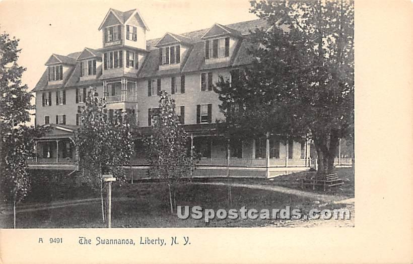 The Swannanoa - Liberty, New York NY Postcard