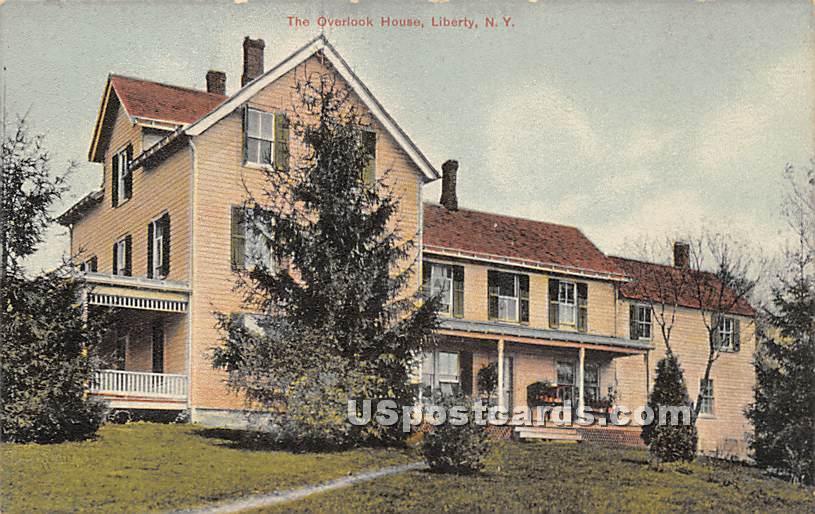 Overlook House - Liberty, New York NY Postcard