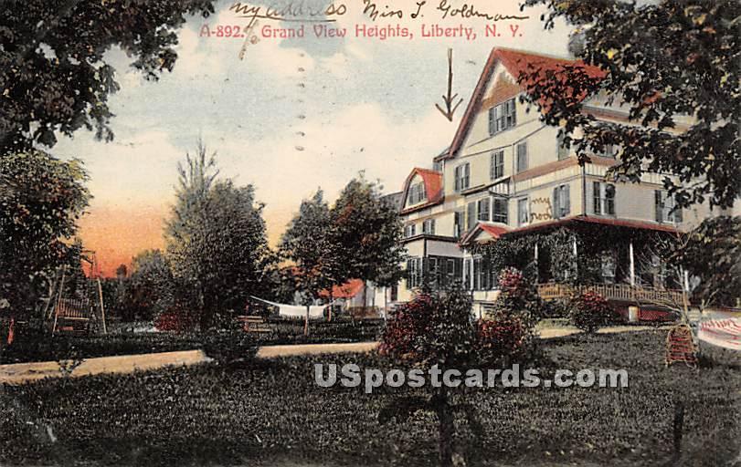 Grand View Heights - Liberty, New York NY Postcard
