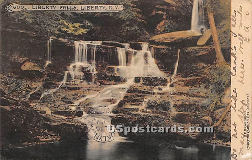 Liberty Falls - New York NY Postcard