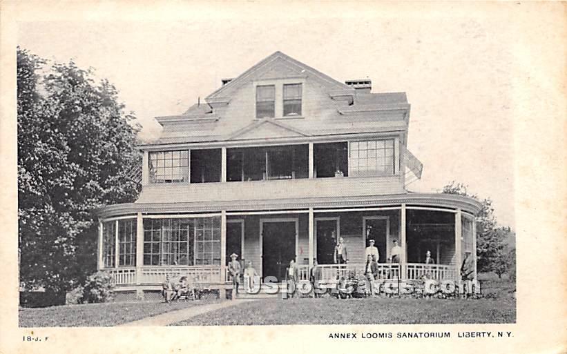Annex Loomis Sanatorium - Liberty, New York NY Postcard
