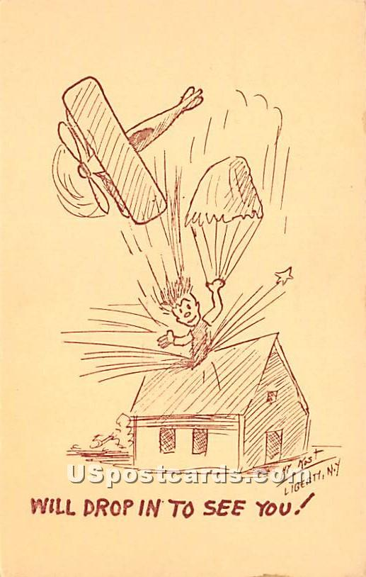Will Drop in to See You - Liberty, New York NY Postcard