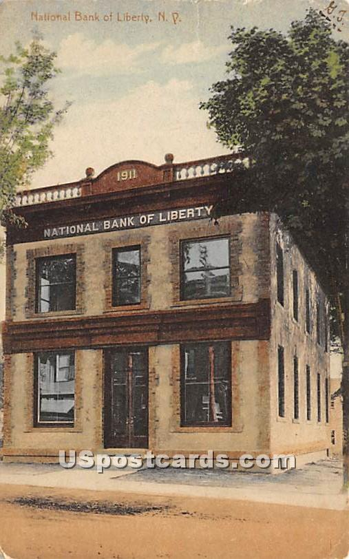 National Bank of Liberty - New York NY Postcard
