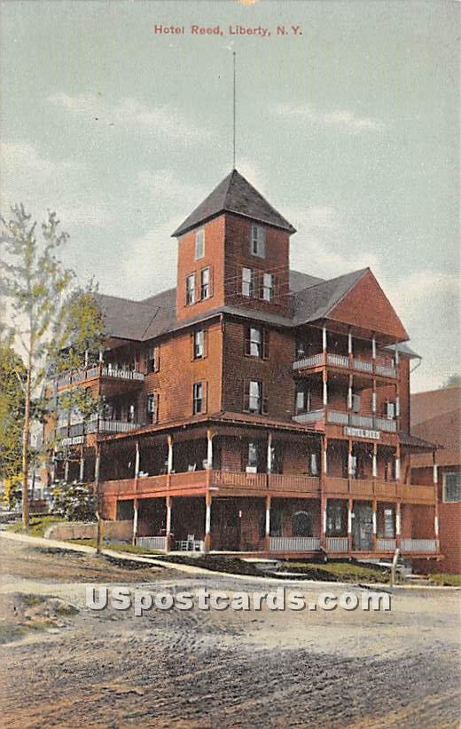 Hotel Reed - Liberty, New York NY Postcard