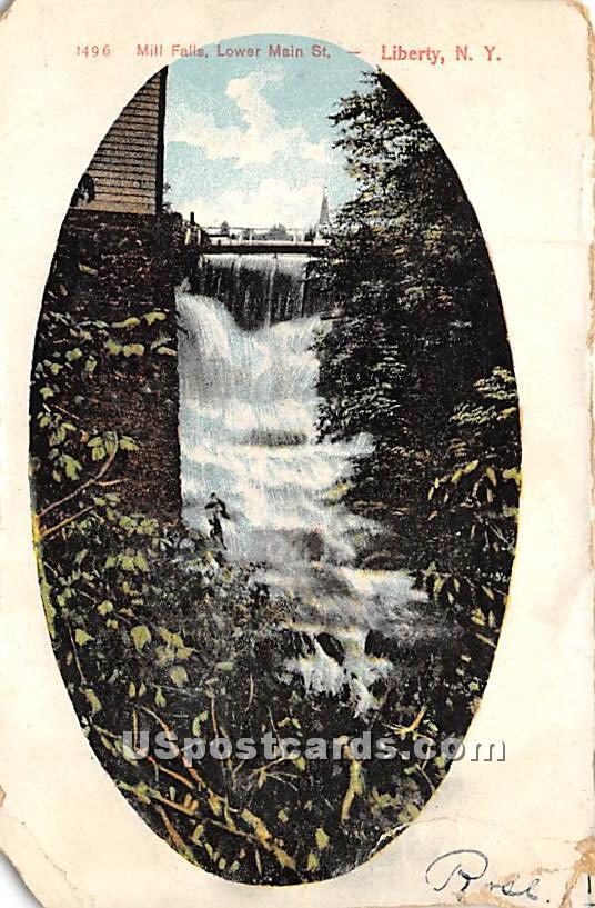 Mill Falls - Liberty, New York NY Postcard
