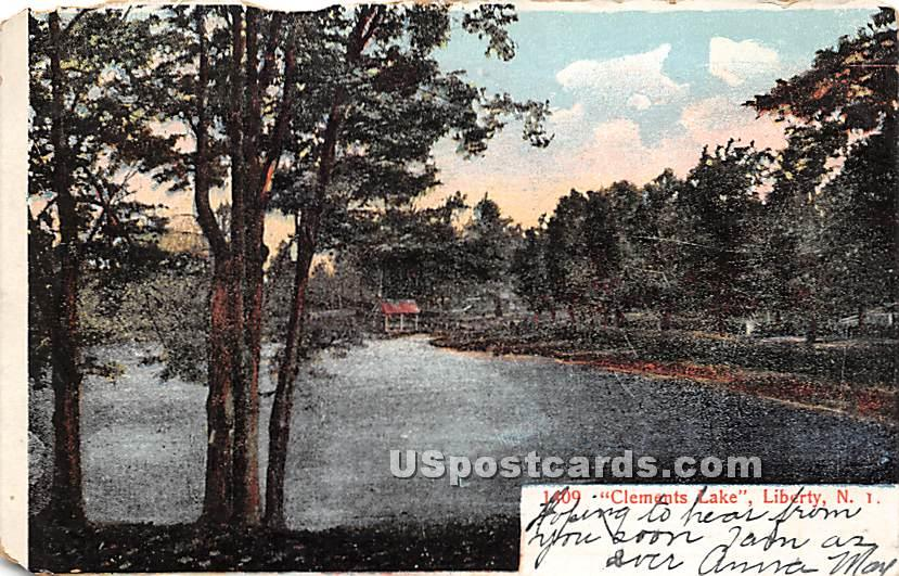 Clement's Lake - Liberty, New York NY Postcard