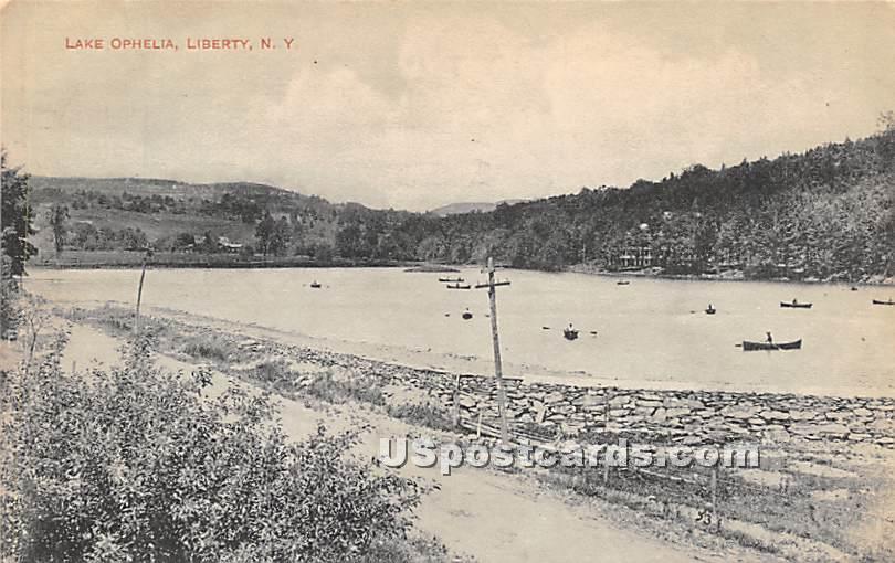 Lake Ophelia - Liberty, New York NY Postcard