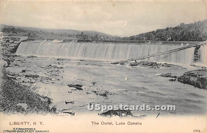 The Outlet - Liberty, New York NY Postcard