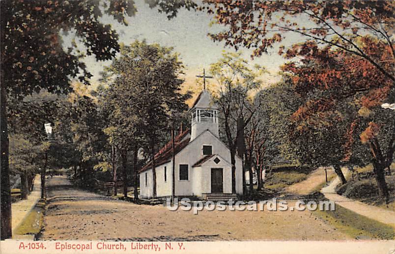 Episcopal Church - Liberty, New York NY Postcard