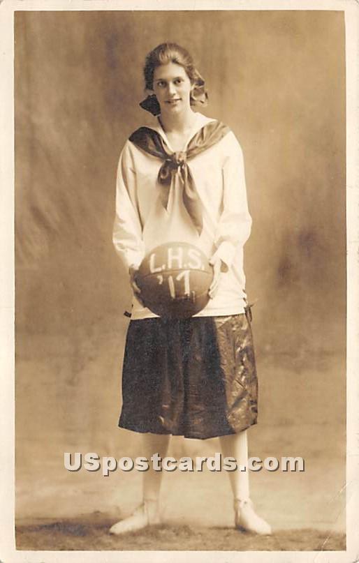 LHS Basketball 1917 - Liberty, New York NY Postcard
