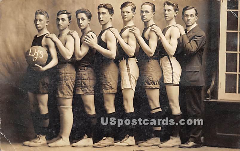 LHS Basketball team 1917 - Liberty, New York NY Postcard