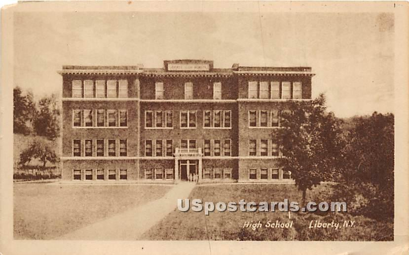 Liberty High School - New York NY Postcard