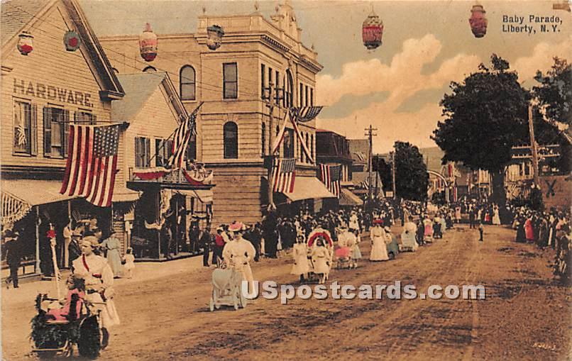 Baby Parade - Liberty, New York NY Postcard
