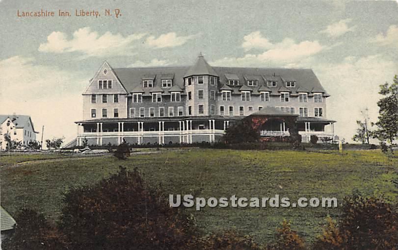 Lancashire Inn - Liberty, New York NY Postcard