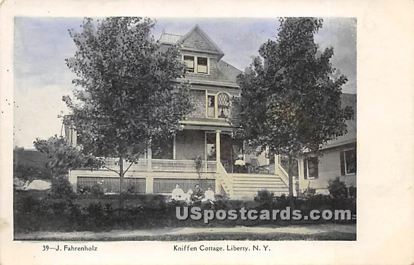 Kniffen Cottage - Liberty, New York NY Postcard